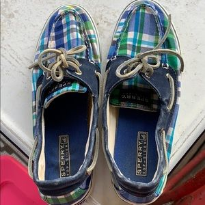 Plaid sperry shoes